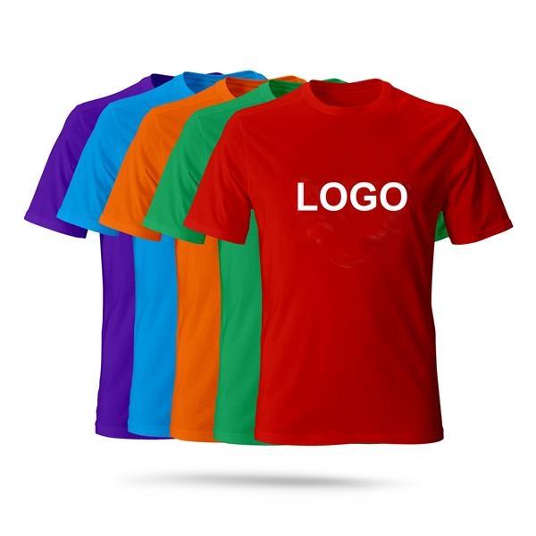 Round Neck Short Sleeve Plain Customizable Logo
