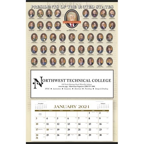 Presidents Hanger 12-Month 2021 Calendar
