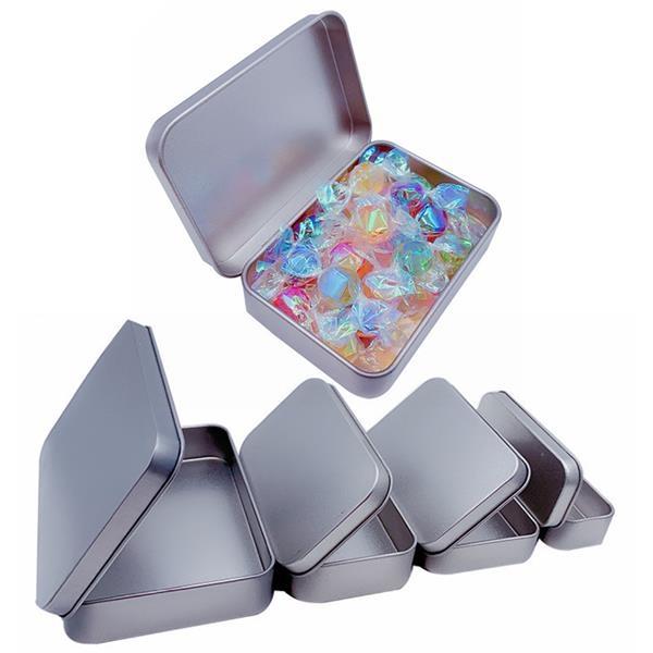 Rectangular Empty Hinged Tin Box