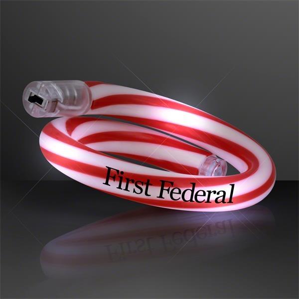 Flashing Christmas Candy Cane Bracelets