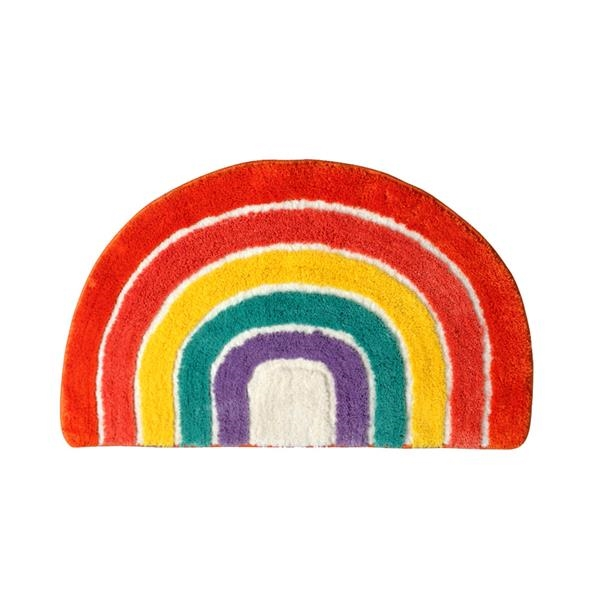 Bath Rug, Rainbow Bath Mat, Soft Bathroom Rugs, Childrens