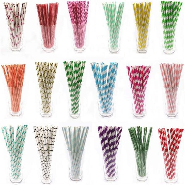 Custom Logo Colorful Paper Straws Factory Direct