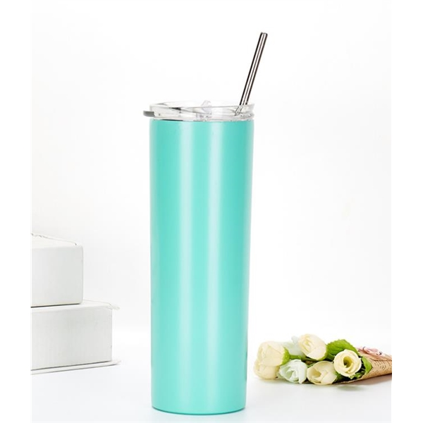 The new stainless steel vacuum flask with straw straight cup