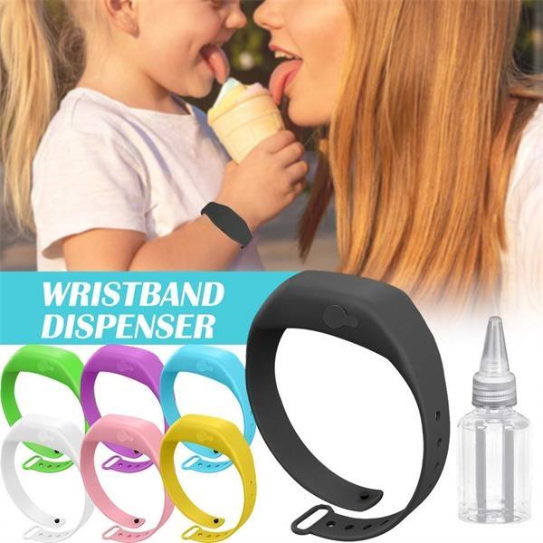 Portable Silicone Refillable Wristband Hand Dispenser