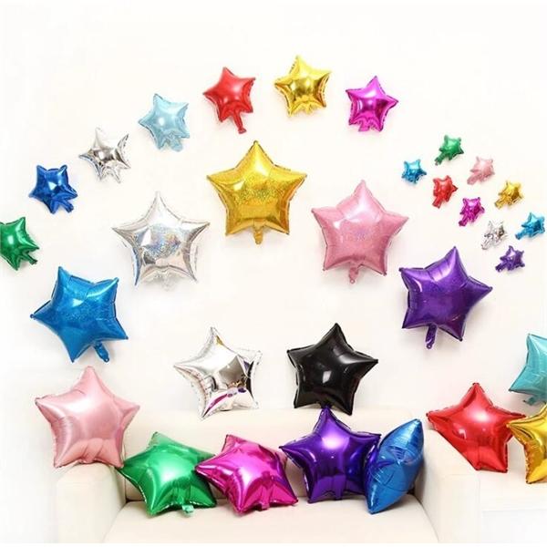 Aluminum Foil Star Balloons