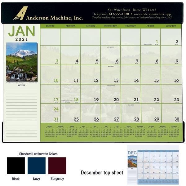 Scenic Desk Pad 2022 Calendar