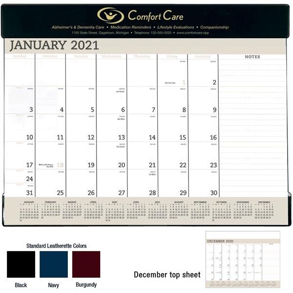 Vinyl 2022 Desk Calendar Pad