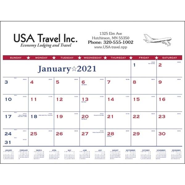 Patriotic 2022 Desk Calendar Pad