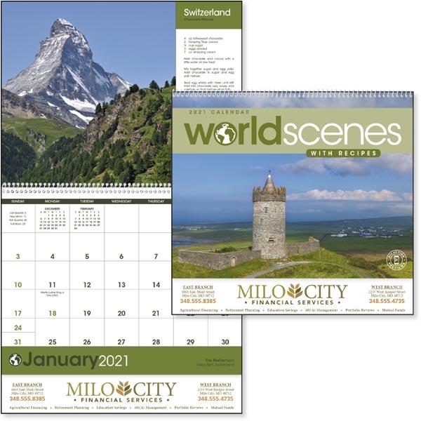 World Scenes with Recipes 2022 Calendar