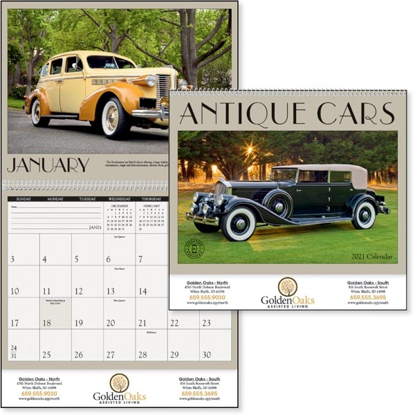 Antique Cars 2020 Calendar