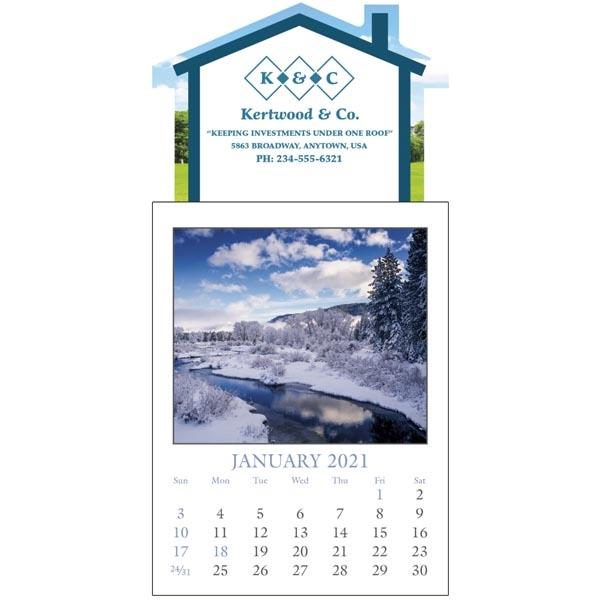 Scenic Full Color Stick Up Grid 2022 Calendar