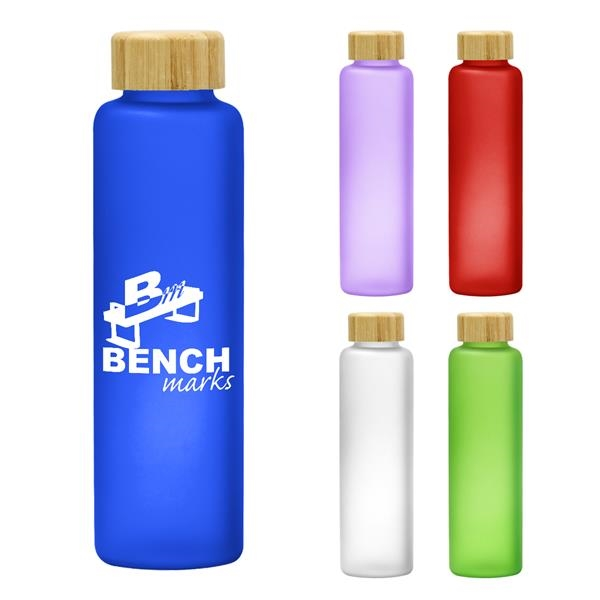 20 Oz. Belle Glass Bottle With Bamboo Lid