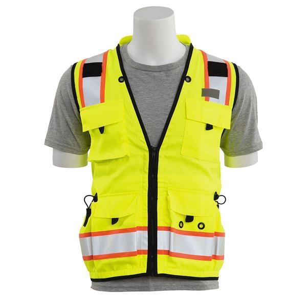 Hi Visibility Class 2 mesh/solid Surveyor Safety Vest