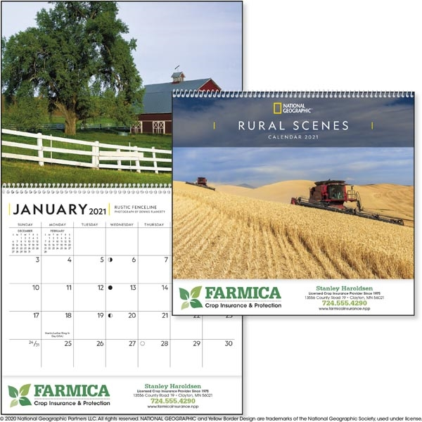 National Geographic Rural Scenes 2021 Calendar