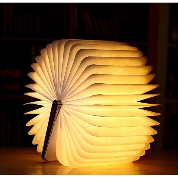 Wooden Foldable LED Book Shape USB Booklight