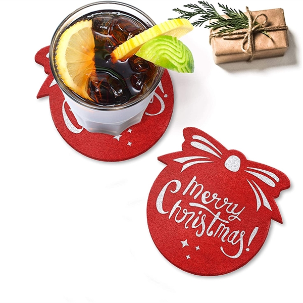 Customize Christmas Holiday Coasters for Drinks