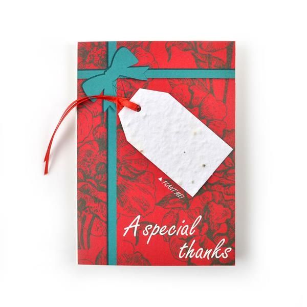 Holiday Seed Paper Ornament Card