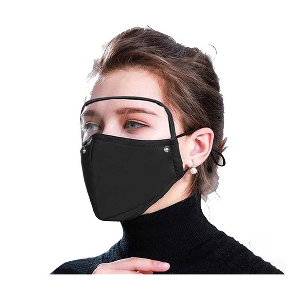 Reusable Cloth Mask with Detachable Eye Shield