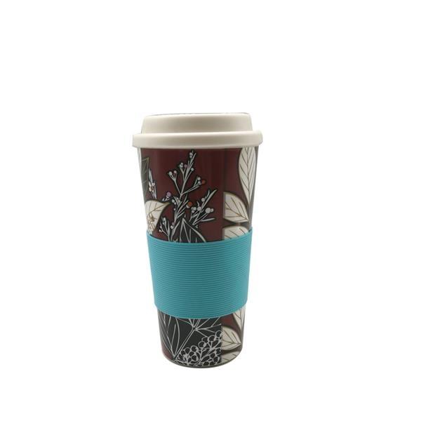 Plastic Double-wall Insulated Coffee Mugs 18 Oz