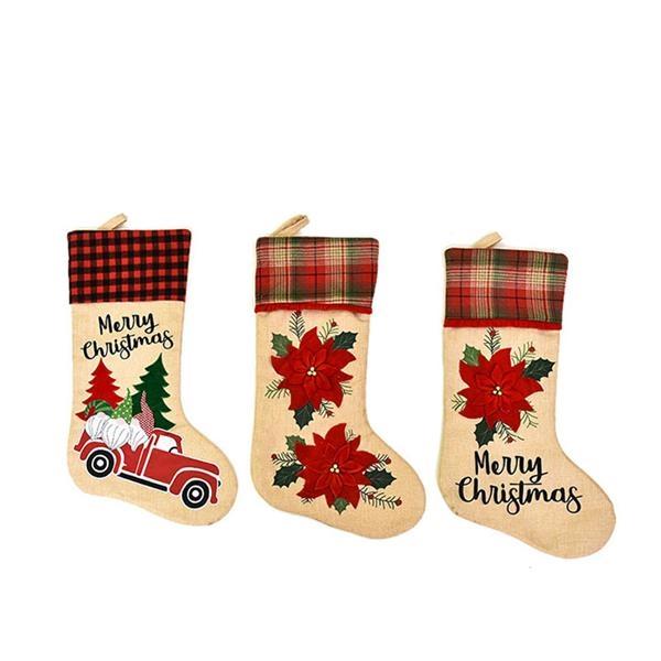 Big Size Christmas Ornaments Stocking Bag