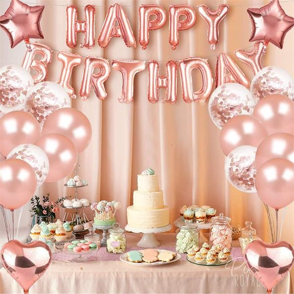 Rose gold balloon  Birthday party decoration