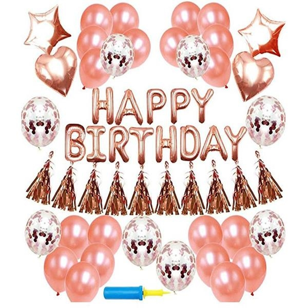 party decoration Birthday party  rose gold balloon series