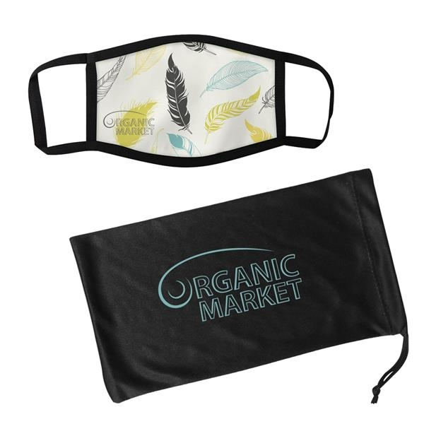 Dye Sublimated 3-Layer Mask & Mask Pouch With Antimicrobi...