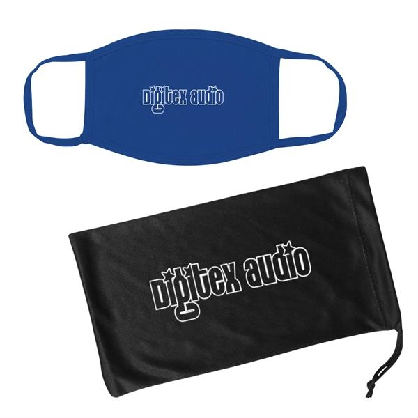 Cotton Reusable Mask & Mask Pouch With Antimicrobial Addi...