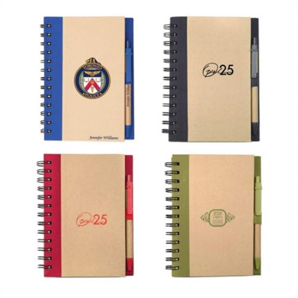 Spiral Bound Notebook & Harvest Pen