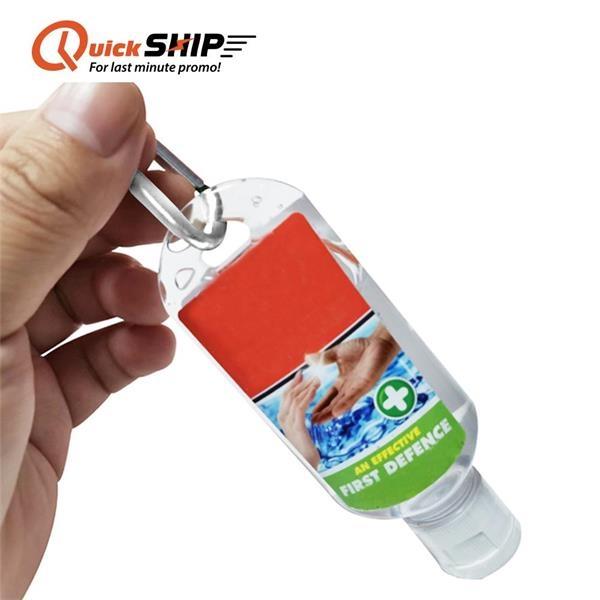 Hand Sanitizer Gel 2 OZ (60 ML) With Carabiner