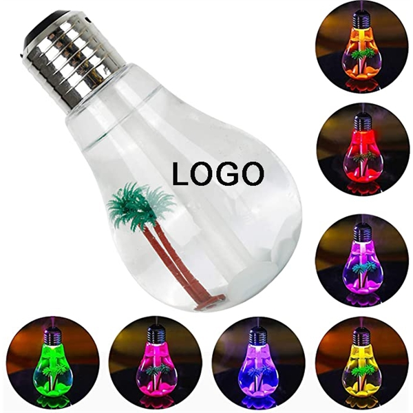 USB Colorful Desk Bulb Humidifier