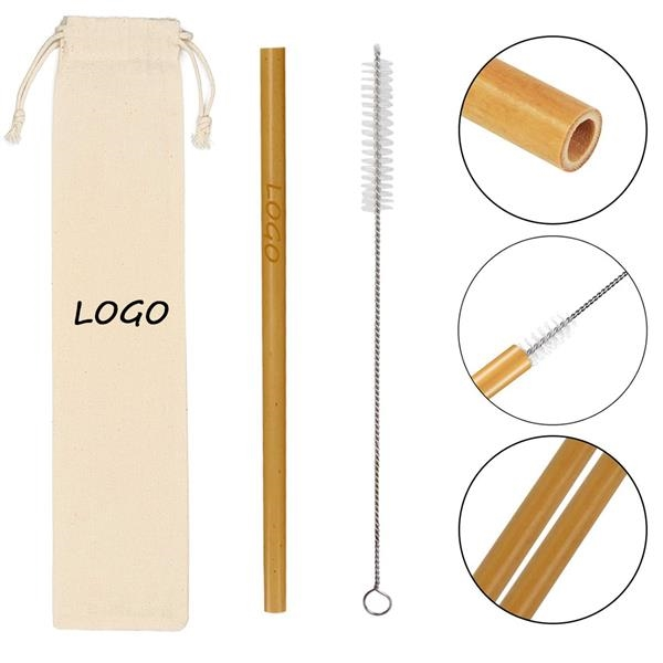 Bamboo Straws Reusable Drinking Straw