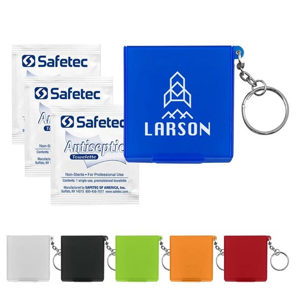 Antiseptic Wipes In Carrying Case Keychain