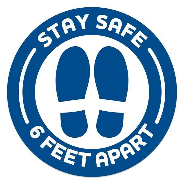 Stay Safe Carpet Decals