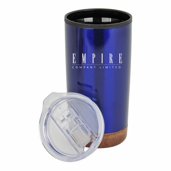 20 oz. Stainless Steel PP Cork Base Tumbler with Clear Lid