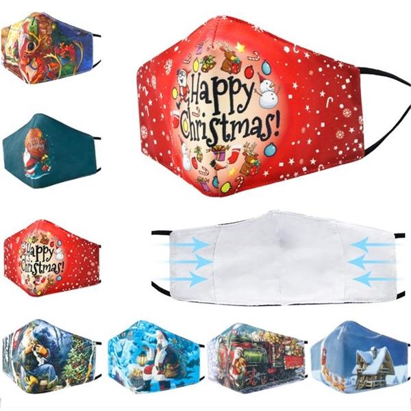 Christmas 3-layer Cotton Mask