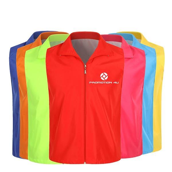 Supermarket Uniform Vest Zipper Volunteers Event Vest