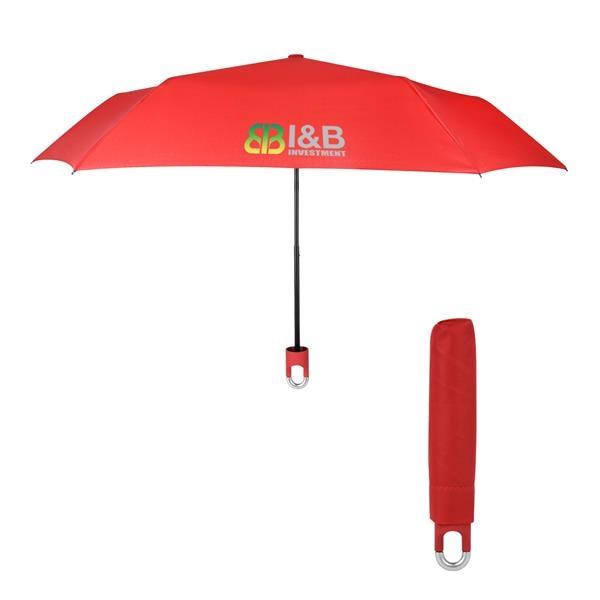 "38"" Arc Clipper Compact Telescopic Umbrella"