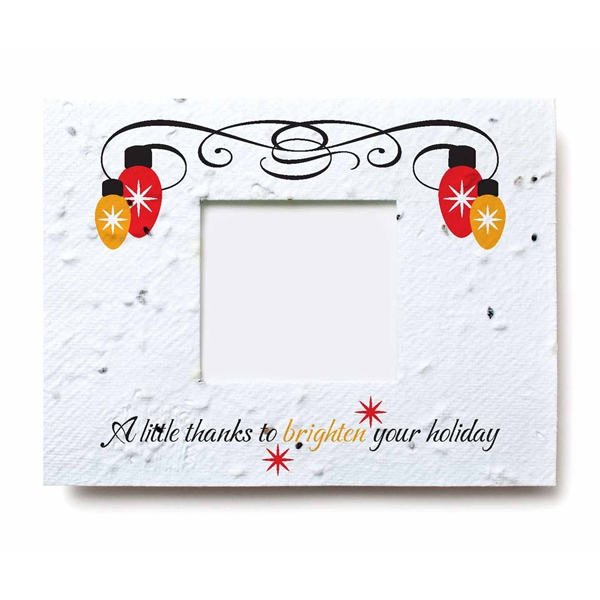 Holiday Seed Paper Window Gift Card Holder