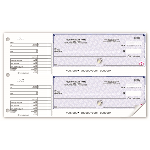 High Security 2-To-A-Page Cheques