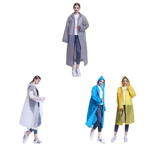 Transparent Reusable Rain Poncho Raincoat