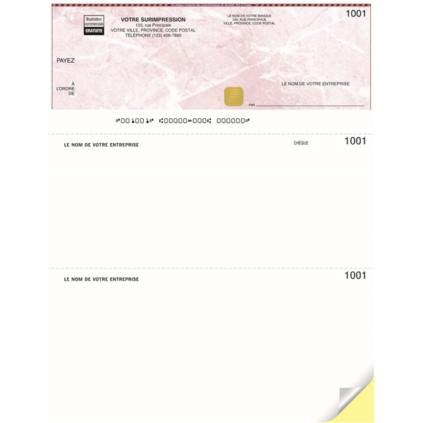 Security Laser Top Cheque
