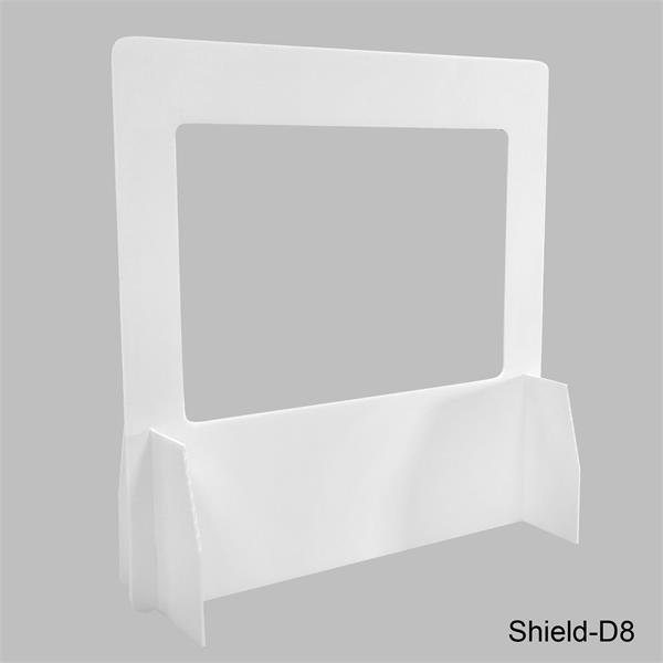Corrugated Desk Shield D8