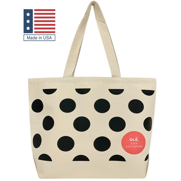 USA Wide Grocery Tote Bag w/ Gusset -  Canvas