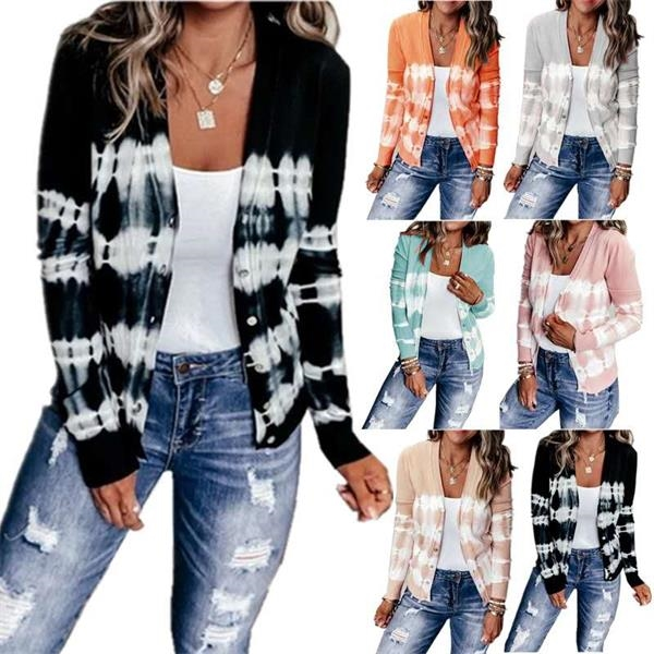 Autumn and winter casual loose knitted jacket cardigan