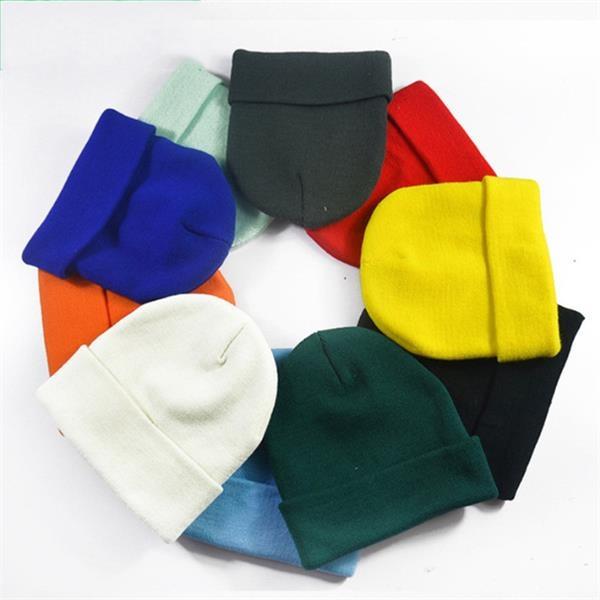 Warm Winter Hats Acrylic Knit Cuff  Beanie Cap