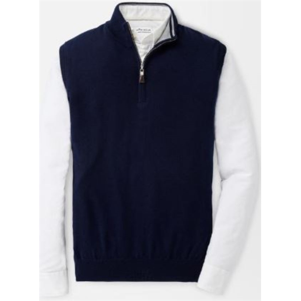 Peter Millar Merino Wool/Silk Blend Quarter-Zip Vest