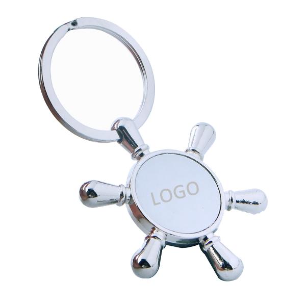 Ship Wheel Keychain