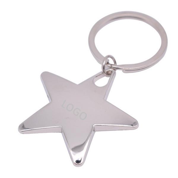 Star Shaped Metal Keychain