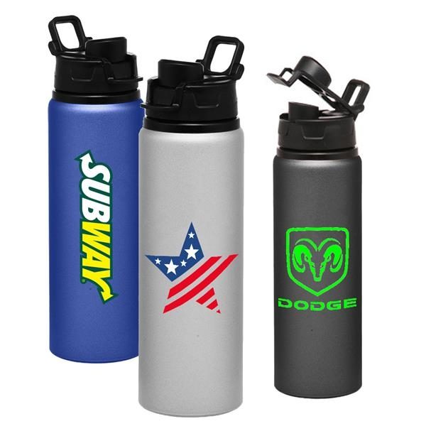 Aluminum Drinkware - 25 oz Sports Bottle w/ Snap Lid